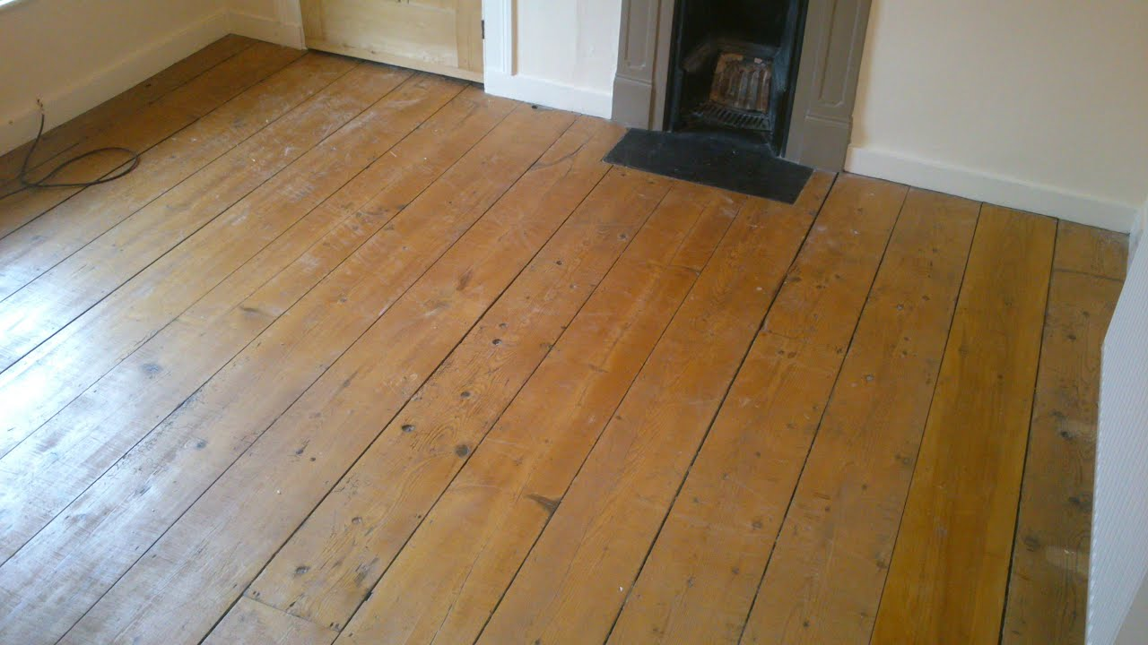 Restoring wood flooring inc filling sealing gaps youtube for Wood floor expansion gap