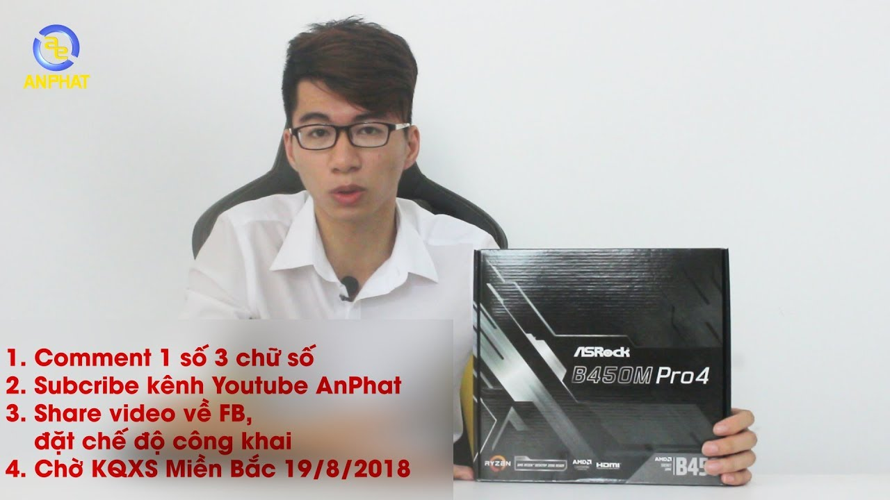 [GIVE AWAY & TRÊN TAY NHANH] Mainboard AM4 thế hệ mới cho Ryzen – Asrock B450M Pro4 | An Phat PC