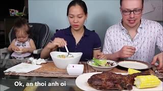 Vlog 630 ll Đặc Sản Bánh Canh Bột Xắt Miền Trung Và Sườn Bò Cây Của Mỹ