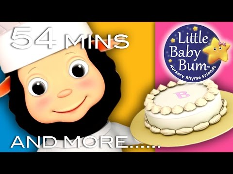 Pat A Cake | Plus Lots More Nursery Rhymes! | 54 Minutes Compilation from LittleBabyBum!