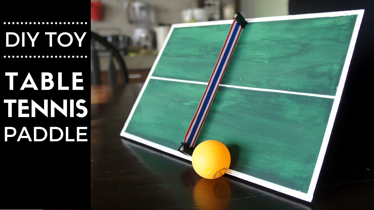 Diy Hand Held Table Tennis Toy Paddle - YouTube