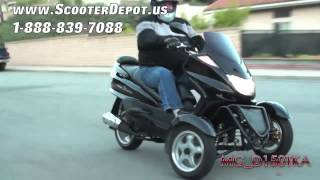 Three Wheels Gas Scooter, MC_D150TKA, Sunny 150cc 3 Wheels Trikes at ScooterDepot.us for $ 1,999