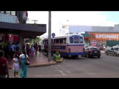 Nadi-Fiji-Street View-Bus & Traffic-Viti Levu-Main Island of Fiji