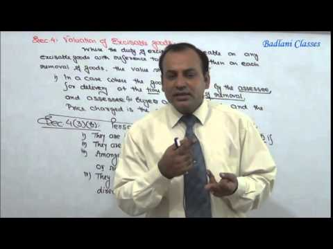 IDT - Indirect Tax - Central Excise Act, 1944 - Lecture 6