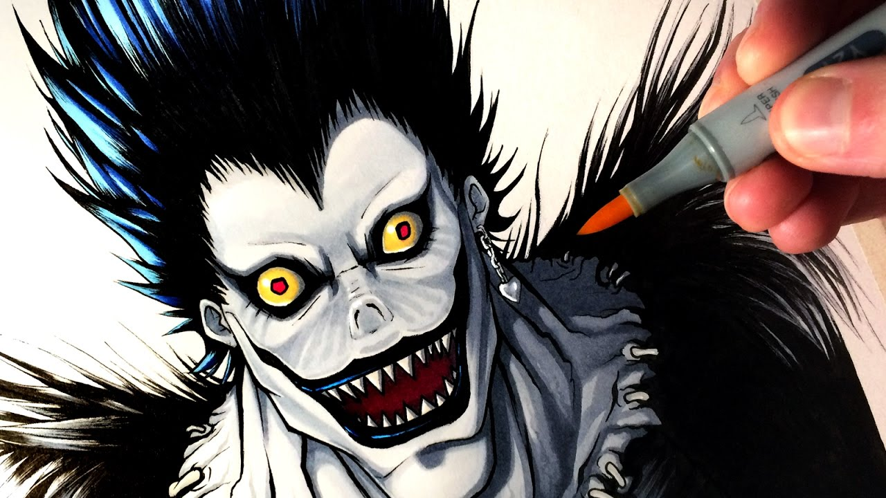 Let's Draw RYUK from DEATH NOTE - FAN ART FRIDAY - YouTube