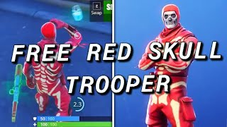 *FREE* HOW TO GET SKULL TROOPER SKIN FOR FREE! IN FORTNITE BATTLE ROYALE! (RED SKULL TROOPER)