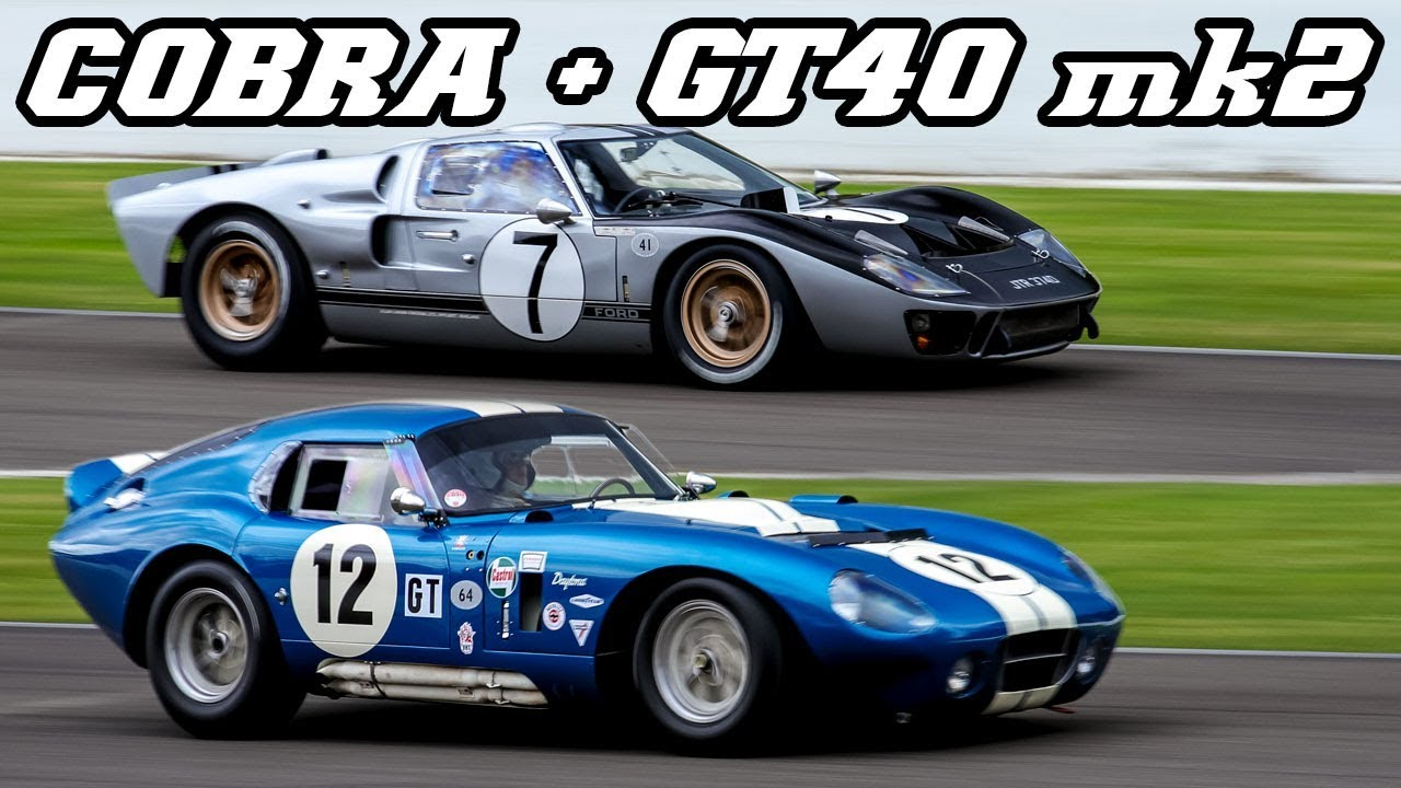 4 million Shelby Cobra Daytona Coupe and Ford GT40 flat out at
