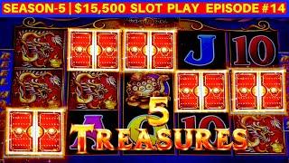 5 Treasures Slot Machine 5 BONUS TRIGGER W/$8.80 Max Bet | SEASON 5 | EPISODE #14