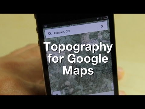 Topography for Google Maps app