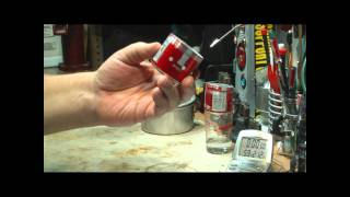 Little Soda Can Stove V2.0 Boil Test 1