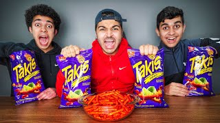 Last To Stop Eating Takis Wins $10,000 - Challenge
