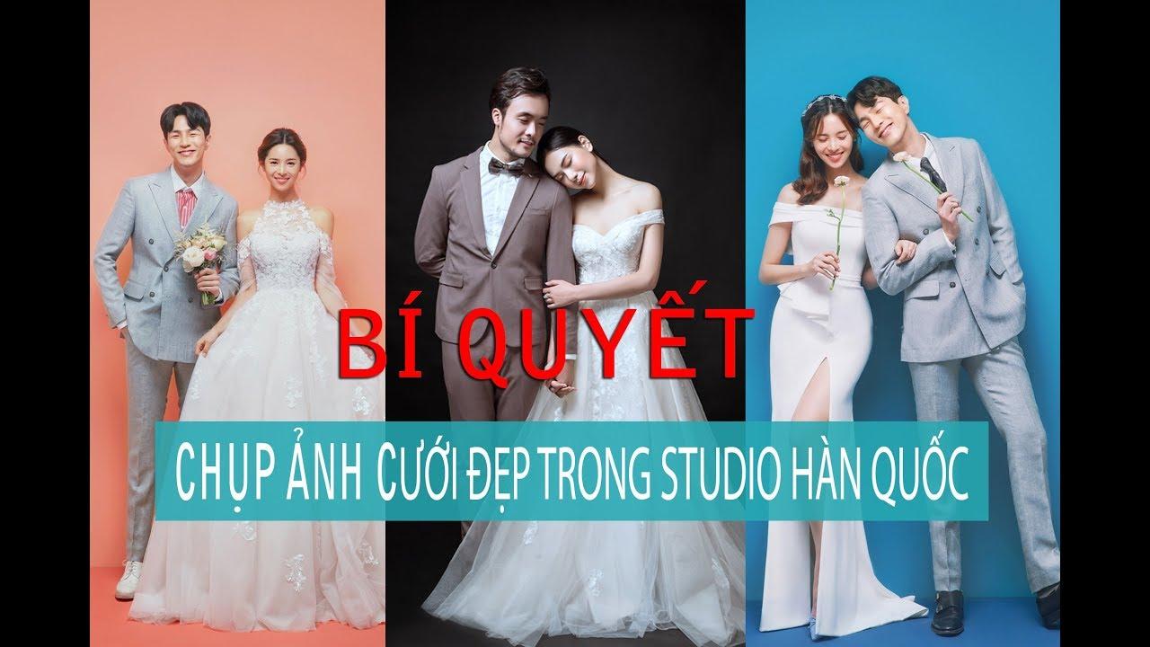 """""""Bí Quyết"""" chụp ảnh cưới Đẹp trong Studio phong cách Hàn Quốc"""