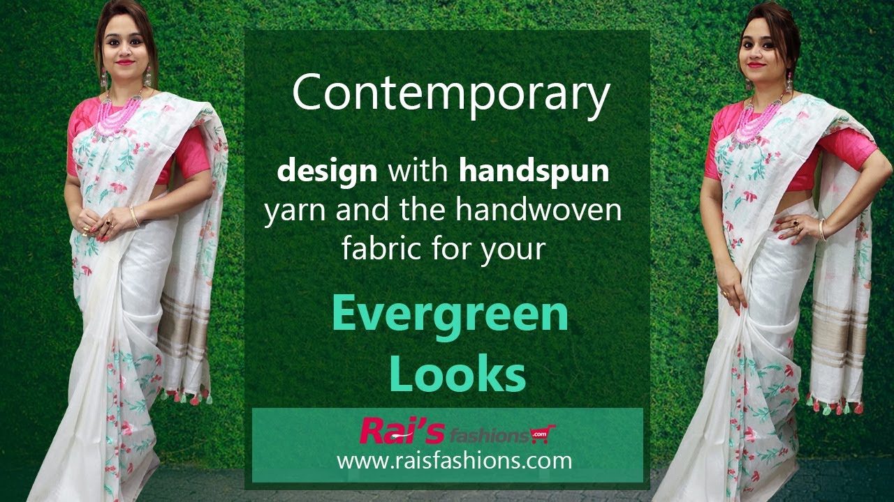Design With Handspun Yarn And The Handwoven Fabric For Your Evergreen Looks (17th September) - 15SR
