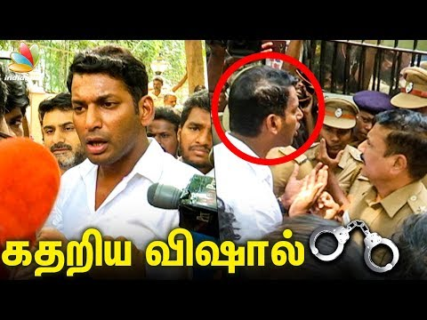 No One Can STOP ME : Vishal Angry Speech | Live Arrest Video | Producer Council Issue