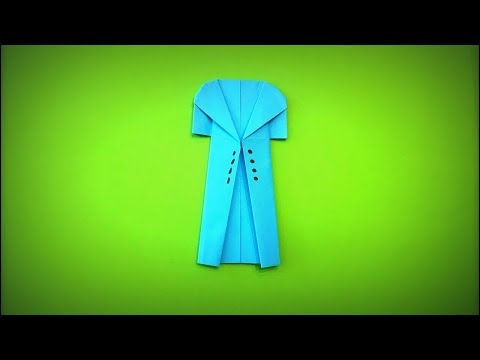 How to Make a Paper Coat DIY - Easy Origami Step by Step