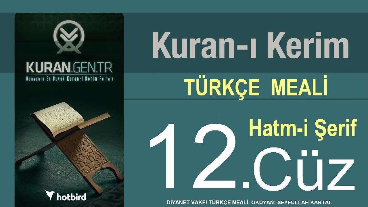 Türkçe Kurani Kerim Meali, 12 Cüz, Diyanet işleri vakfı meali, Hatim, Kuran.gen.tr