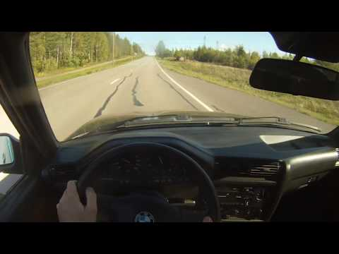 BMW 325 E30 V8 M60B30 pov drive + burnout