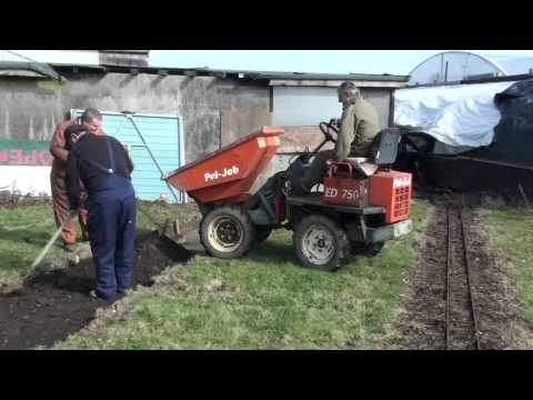 West  Parley Miniature Railway: Building the chord