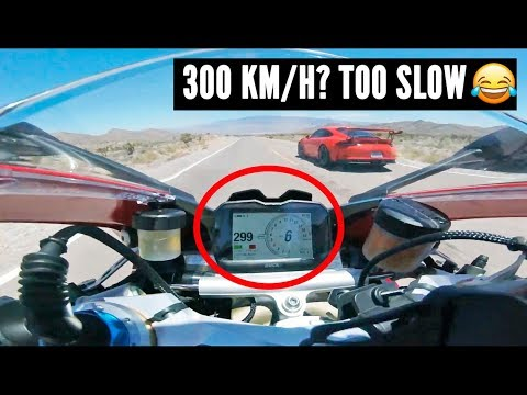 When SPORTBIKES meet SUPERCARS at 300 Km/H [Cars vs Motorcycles pt.1]