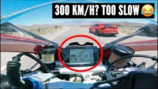Are SUPERCARS faster than SUPERBIKES? - Battle at 300 Km/H [Cars vs Motorcycles pt.1]
