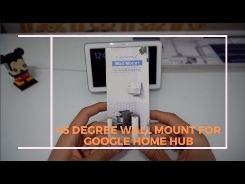 45 Degree Wall Bracket Holder Stand For Google Home Hub