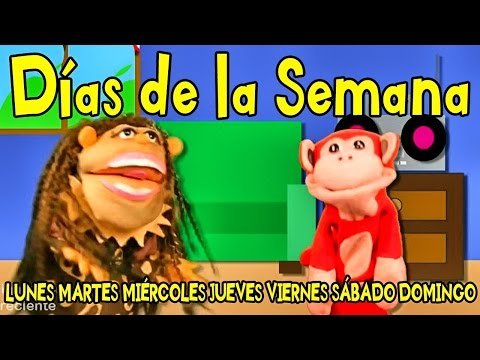 Canciones Infantiles - Los D�as de la Semana - El Mono S�labo - Videos para Ni�os #