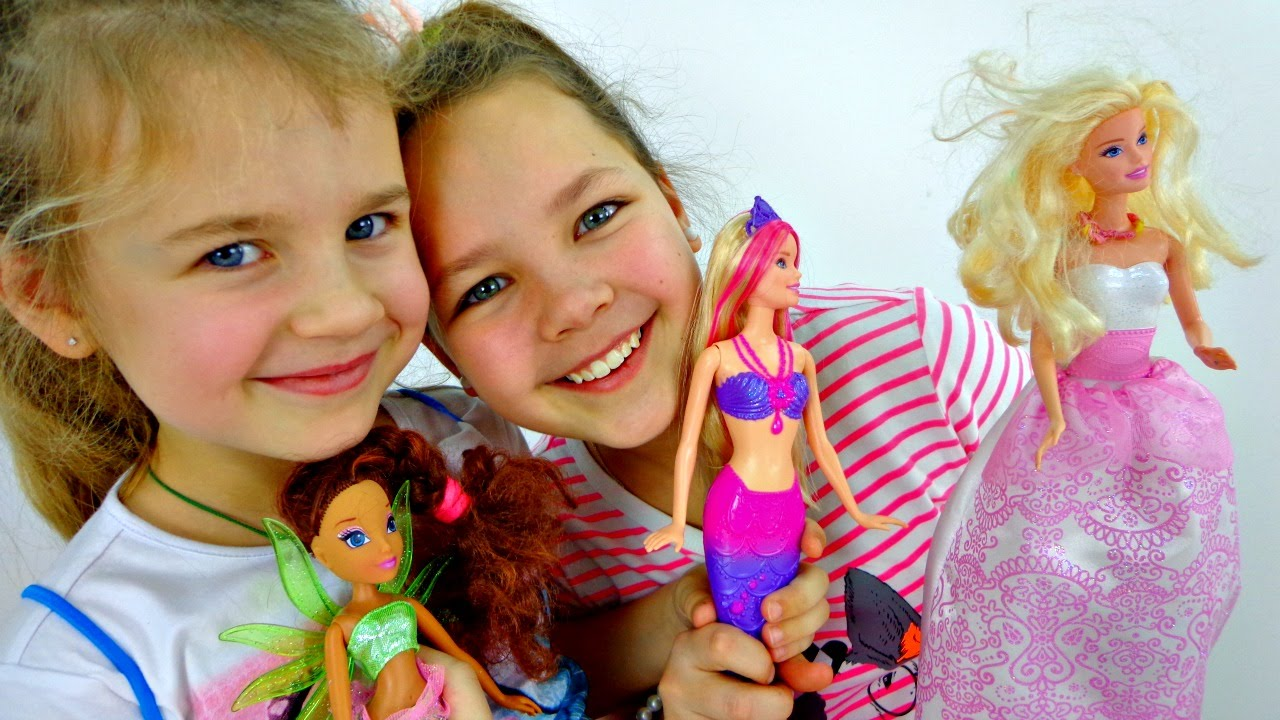видео как играют в куклы концу