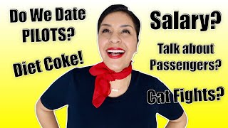 FLIGHT ATTENDANT ASSUMPTIONS - Pilots? Diet Coke? Salary?  |  Fly With Stella 2019