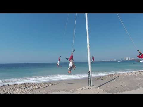 Mexican rope Acrobats on the Beach