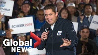 Canada Election: Conservative Leader Andrew Scheer attends rally in Richmond Hill, Ont.