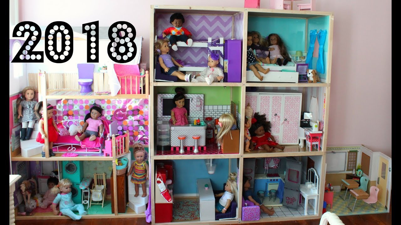 Huge American Doll House Tour 2018 New