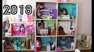 HUGE AMERICAN GIRL DOLL HOUSE TOUR 2018 NEW