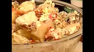 Recipe For Potato Salad With Roasted Red Peppers, Pickled Red Onions, Etc. Copycat Bobby Flay Recipe