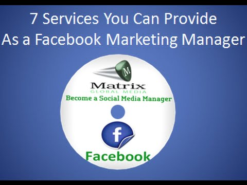 Get Paid For Providing These Facebook Marketing Services