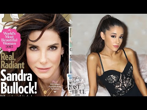 People Magazine Reveals The World's Most Beautiful People 2015 - Sandra Bullock, Ariana Grande