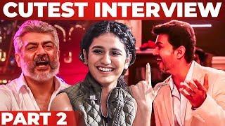 Priya Varrier Imitates! Thala and Thalapathy