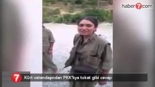 Kürt Vatandaşından PKK'lıya Tokat Gibi Cevap - Helal Olsun