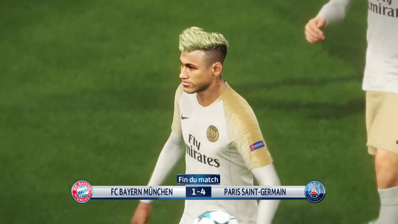 [PC] Neymar vs Bayern Munchen - Gameplay Nouveaux Maillots 2019 PES 2018