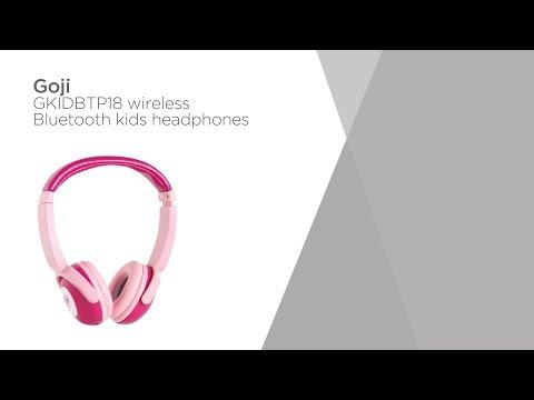 18750dcce4b Goji GKIDBTP18 Wireless Bluetooth Kids Headphones - Pink   Product Overview    Currys PC World - YouTube
