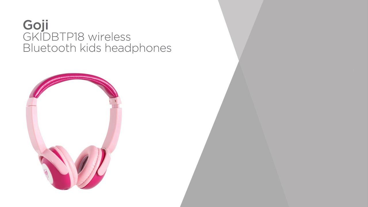 d8cf2479d33 Goji GKIDBTP18 Wireless Bluetooth Kids Headphones - Pink   Product Overview    Currys PC World