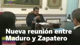 Maduro se reúne con Zapatero para hablar sobre el diálogo en Venezuela