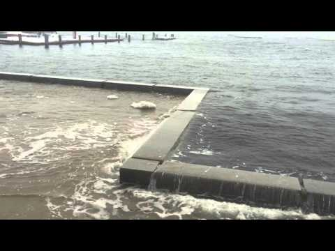 Flooding on Boston Harbor