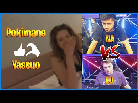 Pokimane appears in Yassuo's room | Twitch Rivals NA vs EU | LoL Daily Moments Ep 418