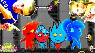 ПРИКЛЮЧЕНИЯ ОГОНЬ и ВОДА в Хрустальном храме #4. Развлекательное видео для детей. Игровой мультик