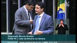 Dep. Bruno Araújo critica declarações da presidente Dilma em entrevista à Folha de São Paulo