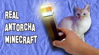 Como Hacer una Antorcha de Minecraft |  How to Make a Torch Minecraft