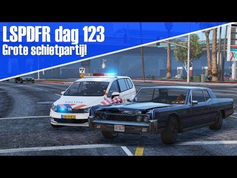 GTA 5 lspdfr dag 123 - Grote schietpartij op de snelweg!