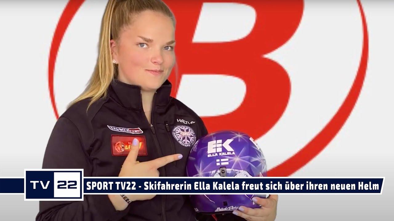 Neues Helmdesign für Skifahrerin Ella Kalela - jeder Helm ist ein Unikat! SPORT TV22