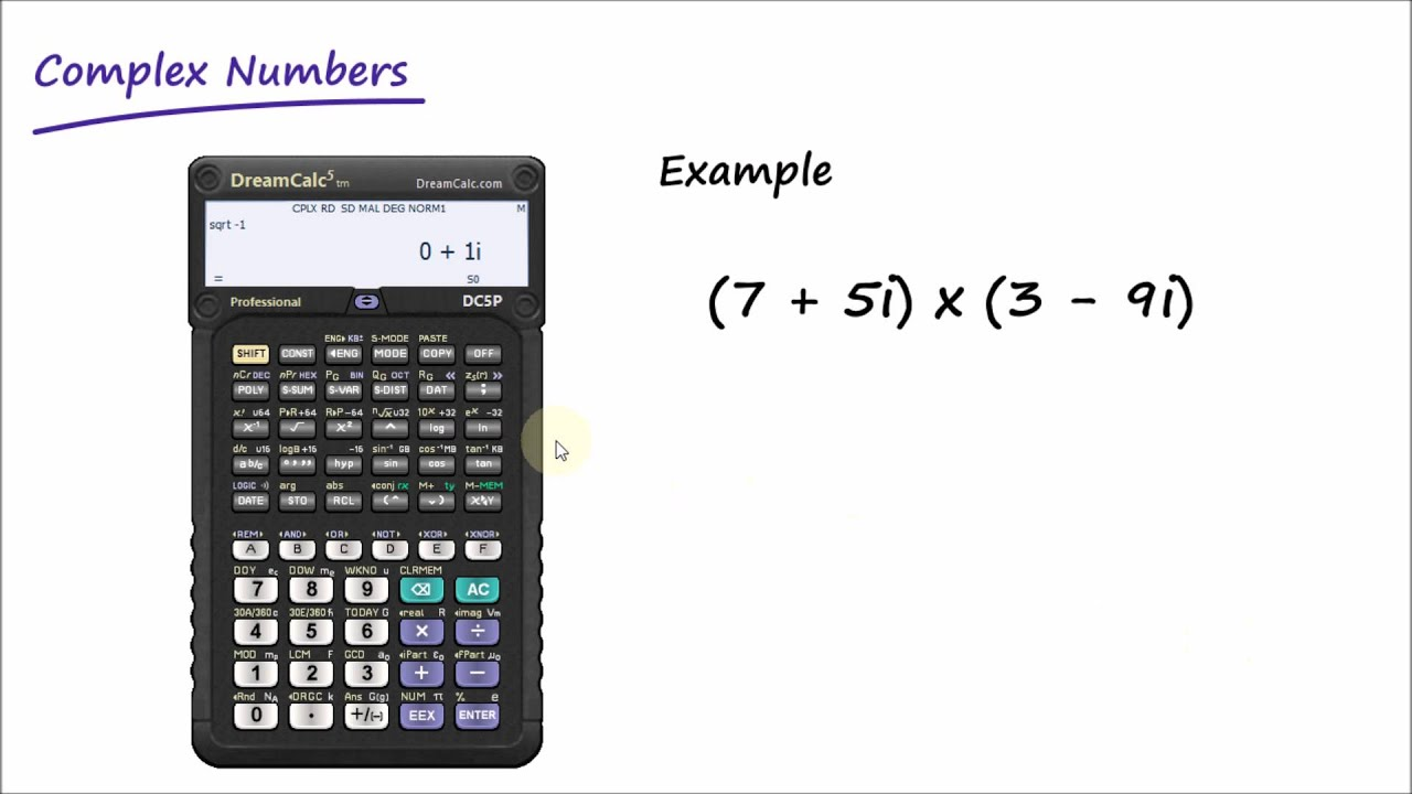 Complex Number Calculations with DreamCalc Scientific