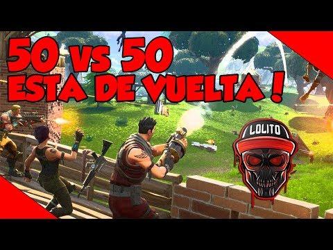 💀 ¡EL MODO 50 vs 50 ESTA DE VUELTA! 💀 ~ FORTNITE